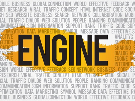 listings: Engine word cloud, business concept