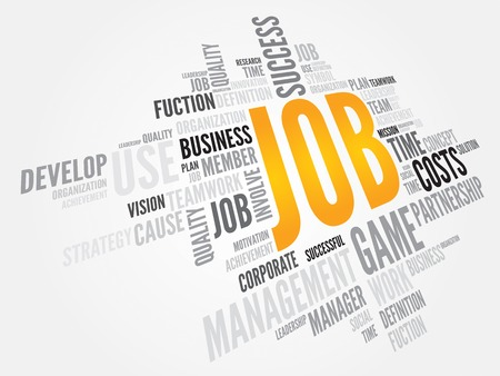 JOB word cloud, business concept