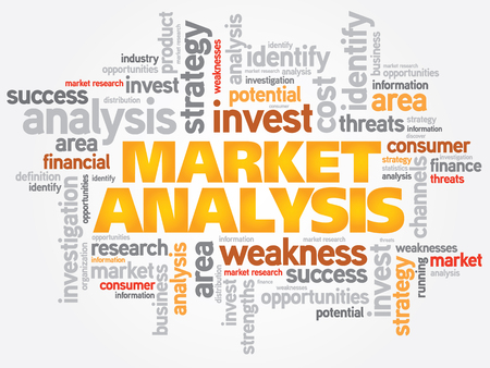 conduction: Market Analysis word cloud, business concept