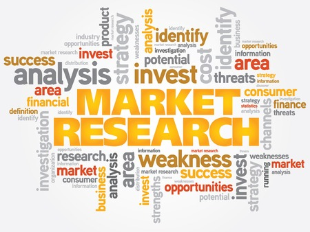 Market Research word cloud, business concept Vector