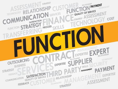 fulfill: FUNCTION related items words cloud, business concept