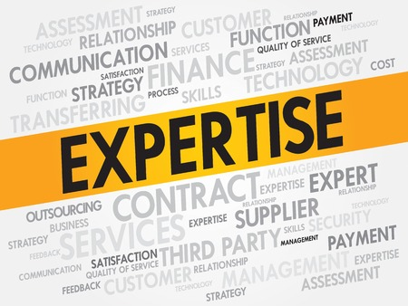 shared goals: Expertise related items words cloud, business concept Illustration
