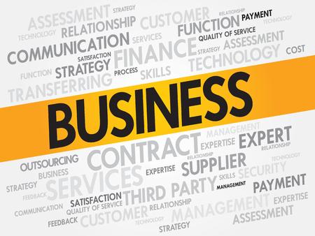 business word: Business word cloud, business concept Illustration
