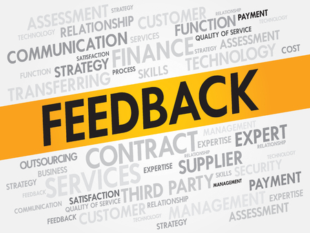 Feedback related items words cloud, business concept Illustration