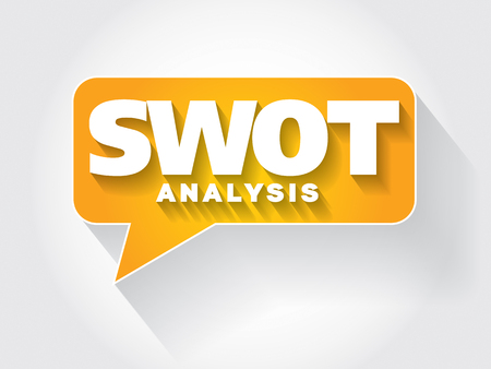SWOT Analysis message bubble, business concept Vector
