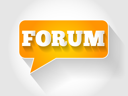 FORUM text message bubble, business concept Vector