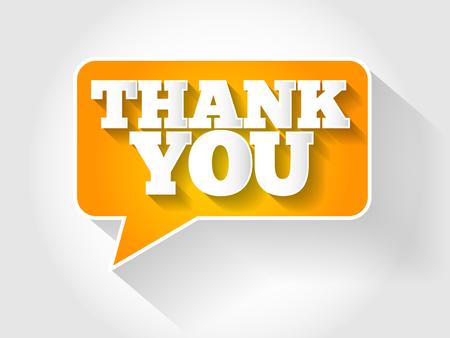 thanks a lot: Thank You Speech Bubble concept