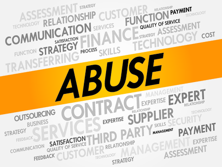 Abuse word cloud, business concept Vectores