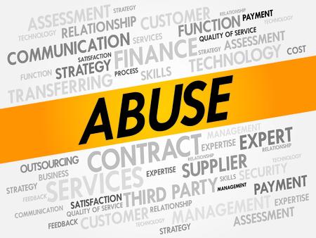 bestechung: Missbrauch Wortwolke, Business-Konzept Illustration