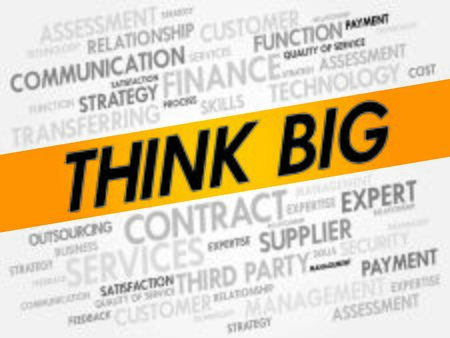 THINK BIG word cloud, business concept Vector