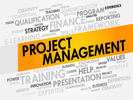Project Management word cloud, business concept Illustration