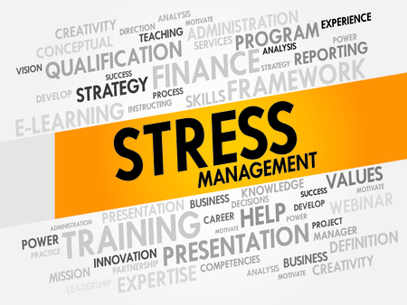 coping: Stress Management word cloud, business concept Illustration