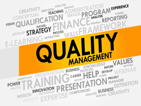 control system: Quality Management word cloud, business concept