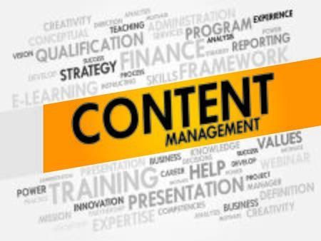 Content Management word cloud, business concept Vector