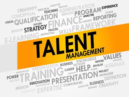 talent management: Talent Management word cloud, business concept