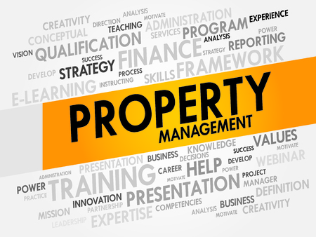 property: Property Management word cloud, business concept