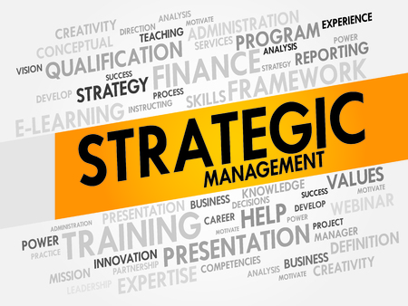 strategic management: Strategic Management word cloud, business concept