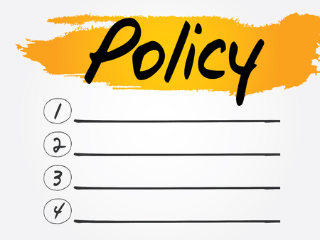 compliant: Policy Blank List, vector concept background