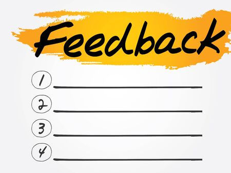 react: Feedback Blank List, vector concept background Illustration