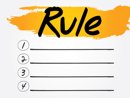 govern: Rule Blank List, vector concept background