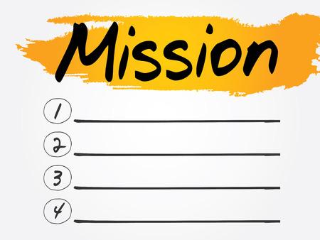prioridades: Misi�n Lista en blanco, el concepto de vectores de fondo