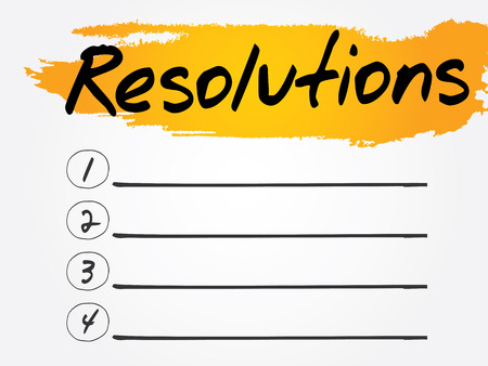 resolutions: Resolutions Blank List, vector concept background Illustration