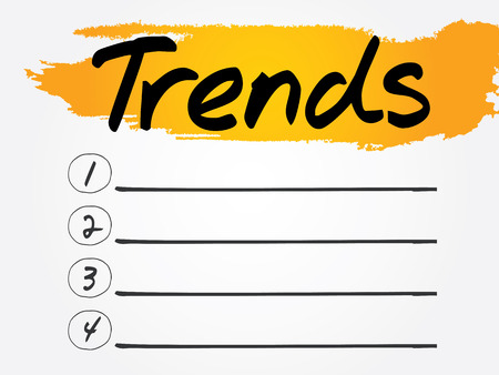 trends: Trends Blank List, vector concept background