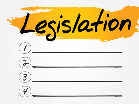 lawmaking: Legislation Blank List, vector concept background