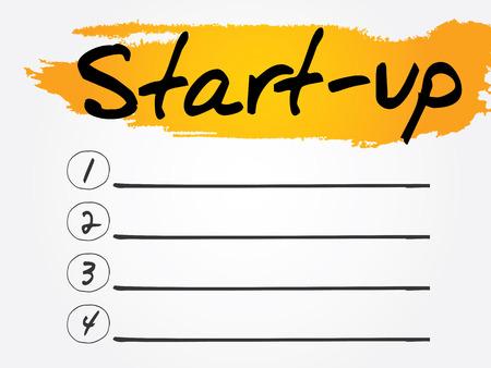 emprendimiento: Start-Up Lista en blanco, el concepto de vectores de fondo Vectores
