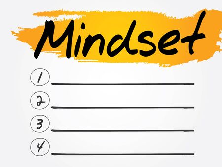 manners: Mindset Blank List, vector concept background