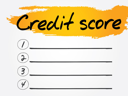 creditworthiness: Credit Score Blank List, vector concept background