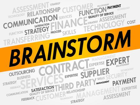 brainstorm: BRAINSTORM word cloud, business concept Illustration