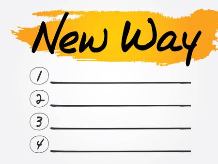 New Way Blank List concept background Vector
