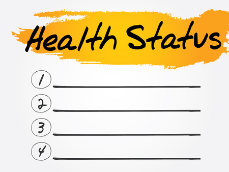 medical evaluation: Health Status Blank List concept background