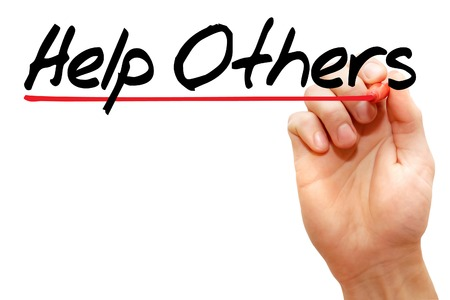 helping others: Hand writing Help Others with marker help concept