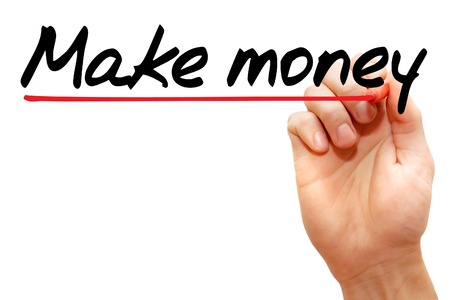 Hand writing make money with marker, business concept photo