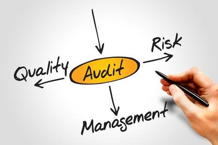 auditoria: Diagrama de varios resultados posibles de la realizaci�n de una auditor�a