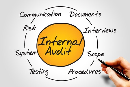 internal audit: Diagram of Internal Audit process circle, business concept