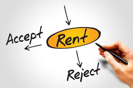 reject: Diagram of Accept or Reject Rent decide diagram