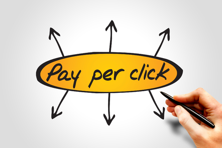 ppc: Pay Per Click (PPC) directions, business concept Stock Photo
