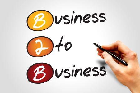 b2b: Empresa a empresa (B2B), concepto de negocio acr�nimo