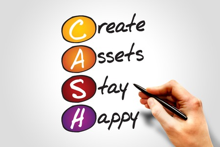 acronym: Create Assets Stay Happy (CASH) , business concept acronym