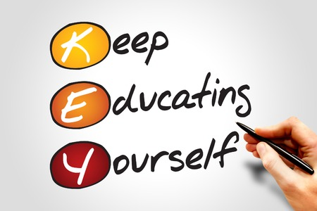 yourself: Keep Educating Yourself (KEY), business concept acronym