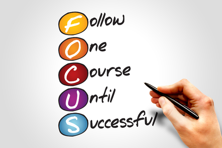 business consulting: FOCUS, business concept acronym