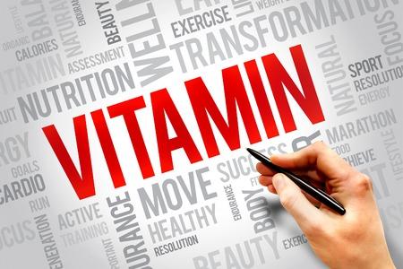 VITAMIN word cloud, fitness, sport, health concept photo