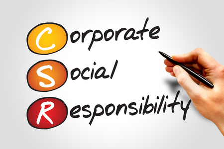 responsibility: Corporate Social Responsibility (CSR), business concept acronym