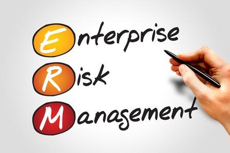 risk management: Enterprise Risk Management (ERM), business concept acronym Stock Photo