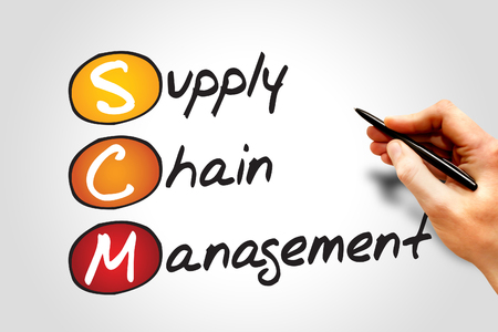 scm: Supply Chain Management (SCM), business concept acronym