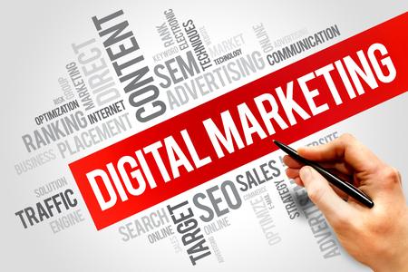 Digital Marketing word cloud, Business-Konzept Standard-Bild - 40701423