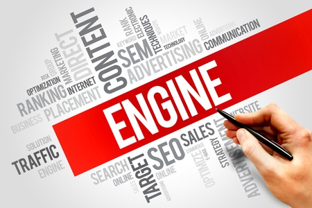 ENGINE word cloud, business concept photo